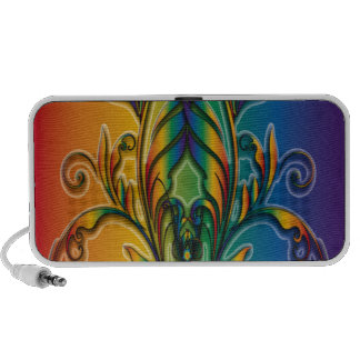Rainbow Floral Abstract Portable Speakers
