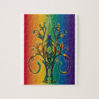 Rainbow Floral Abstract Puzzle