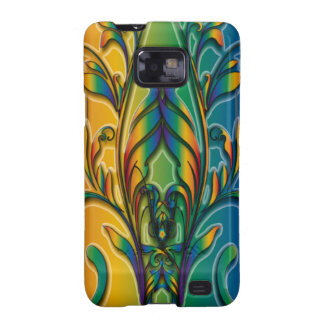 Rainbow Floral Abstract Samsung Galaxy SII Case
