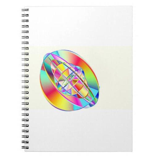 Rainbow Gyroscope Notebook