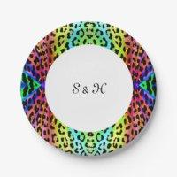 Leopard Birthday Plates | Zazzle