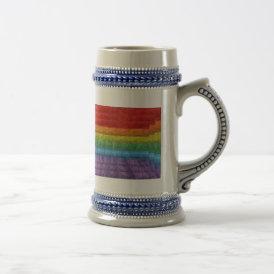 Rainbow Mosaic Gay Pride Flag Beer Stein