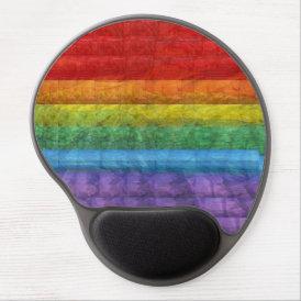 Rainbow Mosaic Gay Pride Flag Gel Mouse Pad