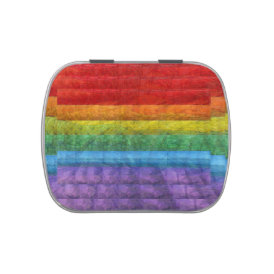 Rainbow Mosaic Gay Pride Flag Jelly Belly Candy Tin