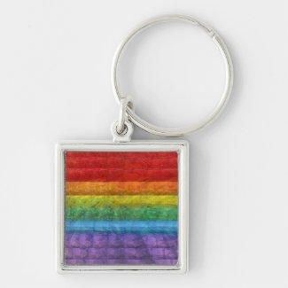 Rainbow Mosaic Gay Pride Flag Keychain