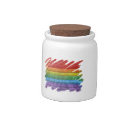 Rainbow Mosaic Gay Pride Flag (Paintbrush) Candy Dishes