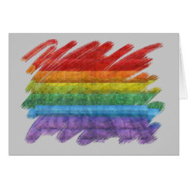 Rainbow Mosaic Gay Pride Flag (Paintbrush) Card