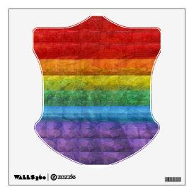 Rainbow Mosaic Gay Pride Flag Wall Decal