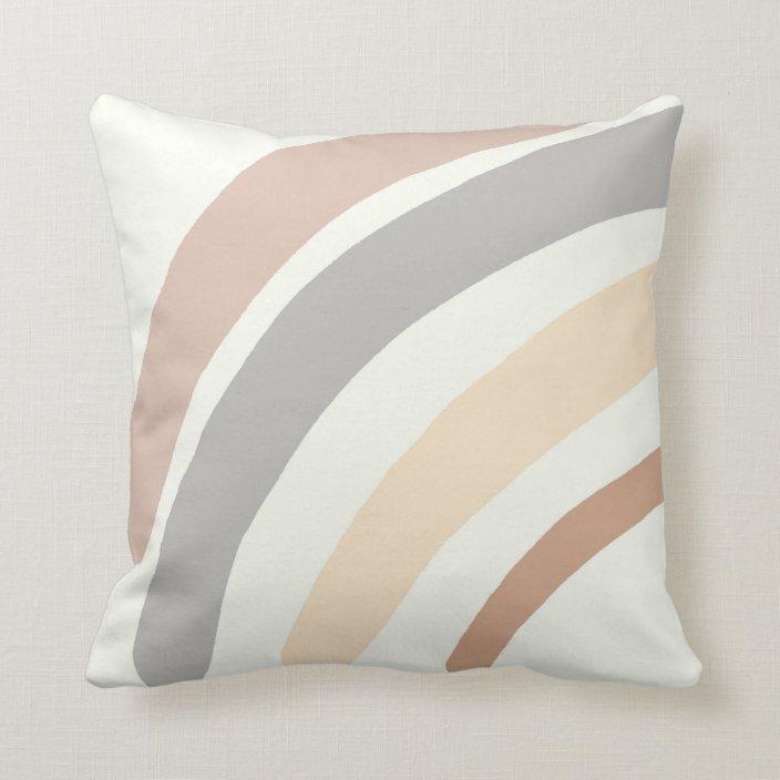 rainbow nursery pillow neutral boho nursery decor throw pillow zazzle com