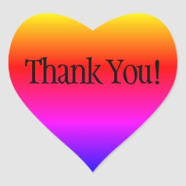 Image result for thank you in rainbow colours