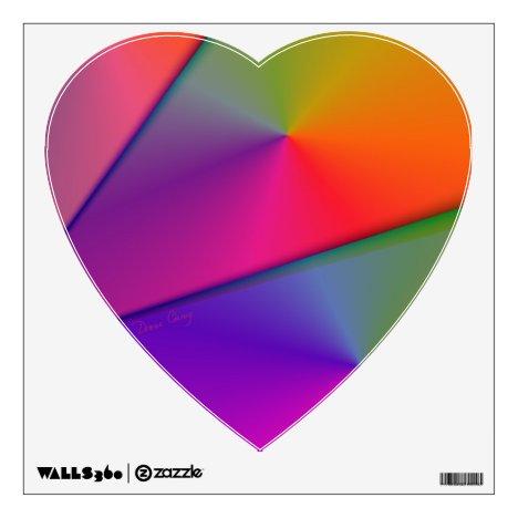 Rainbow Origami, Abstract Indigo Magenta Swirls Wall Sticker