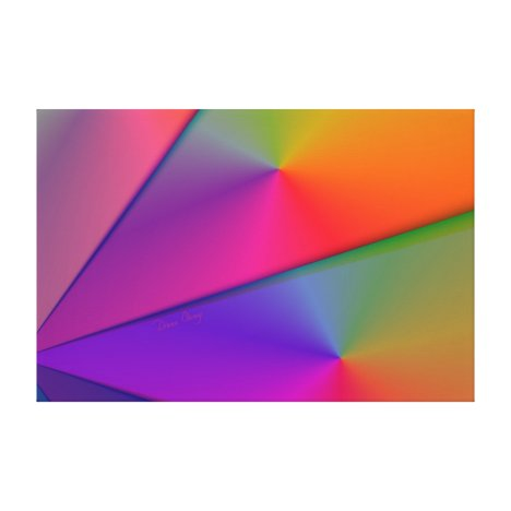 Rainbow Origami – Indigo & Magenta Swirls Canvas Print