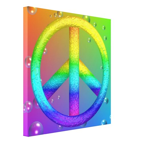 Rainbow Peace Sign Canvas Print