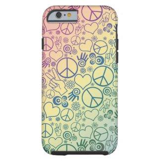 Rainbow Peace Symbol Design Pattern Tough iPhone 6 Case