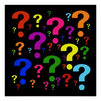 Rainbow Question Marks Print