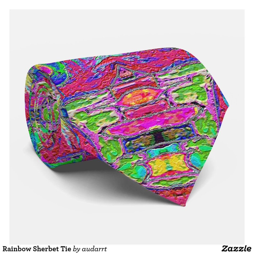 Rainbow Sherbet Tie