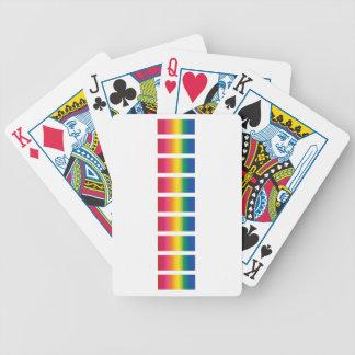 Rainbow Spectrum Blocks Bicycle Card Deck