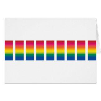 Rainbow Spectrum Blocks Card