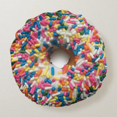 Rainbow Sprinkle Donut Pillow