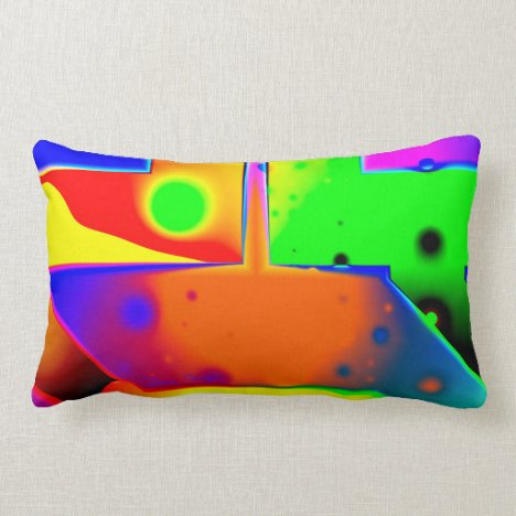 Rainbow Step, Abstract Fractal Door into Fantasy Lumbar Pillow