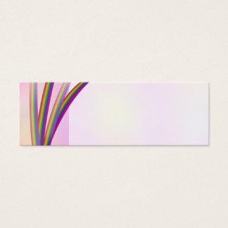 Rainbow Stripes Wedding Place Name Mini Business Card