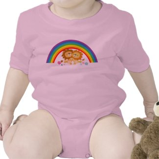 Rainbow Tango-Cute Cartoon Lions Baby Apparel shirt
