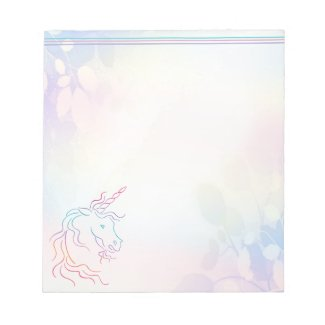 Rainbow Tribal Unicorn Art Design Notepad
