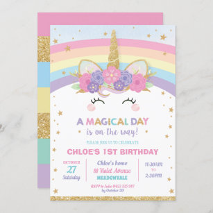 https www zazzle com unicorn birthday invitations