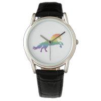 Rainbow Unicorn lgbt Wrist Watch