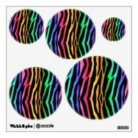 Rainbow Zebra Animal Print Wall Decal Stickers   Zazzle.com