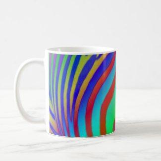 Rainbow Zebra Print mug