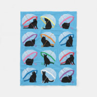 Raining Cats 'n Cats Fleece Blanket