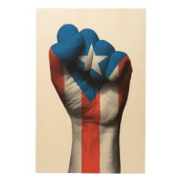 Puerto Rican Flag Wood Wall Art