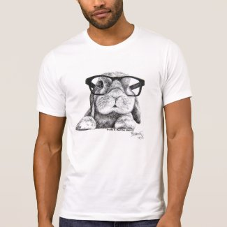 Rambo the Hipster Bunny T Shirts