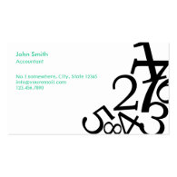 Shop Business Cards: Accounting Business Cards 2