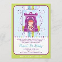 rapunzel birthday invitations zazzle