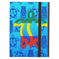 Rasta Honu Blue Tiki iPad Folio Case