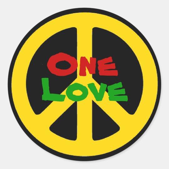 Rasta One Love Sticker Zazzlecom