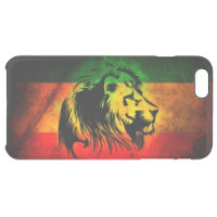 rasta reggae lion flag uncommon clearly deflector iPhone 6 plus case