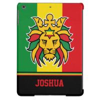 Rastafari Lion of Judah Personalized Name iPad Air Case