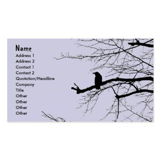 Raven on the Tree Business Card Templates