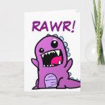 Cute Rawr! Means Happy Birthday In Dinosaur Birthday Card