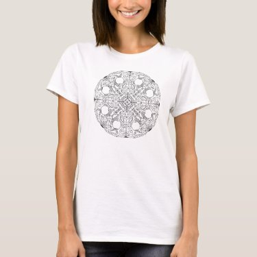 Ready to Color Apple Mandala Women's Shirt