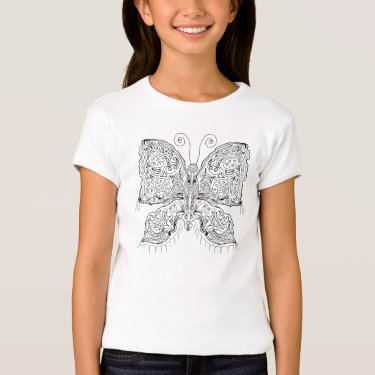 Ready to Color Gypsy Moth Girl's Top