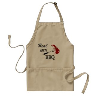Real Men BBQ Adult Apron
