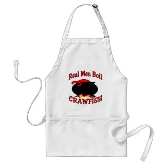 Real Men Boil Crawfish apron