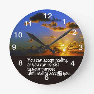 Reality Round Wallclock