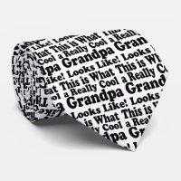 Really Cool Grandpa Neck Tie