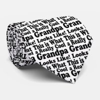 Really Cool Grandpa Neck Tie | Zazzle