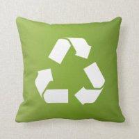Recycle Symbol Pillows - Decorative & Throw Pillows | Zazzle